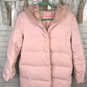 Jackets & Blazers - Banila B winter coat pink with faux fur trim